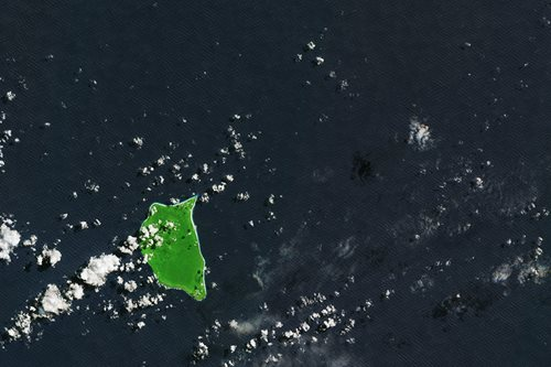 Satellite image of Henderson Island - courtesy of the European Space Agency
